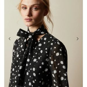 Polka-Dot Pussy-Bow Blouse by Seduction 🖤